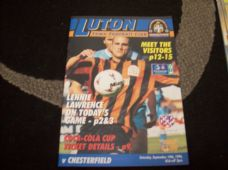 Luton Town v Chesterfield, 1996/97